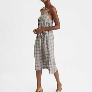 AE plaid midi dress